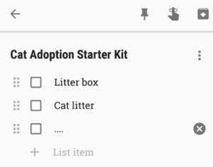 cat adoption starter kit checklist
