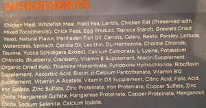 dry cat food ingredients