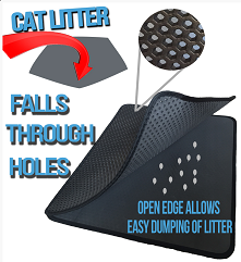 iprimio cat litter trapper two layer design
