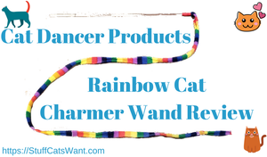 Cat Dancer Product's Rainbow Cat Charmer Wand Toy