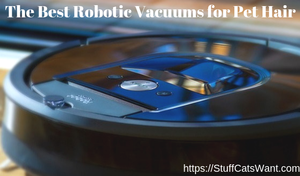 a robot vacuum with text that says the best robotic vacuums for pet hair