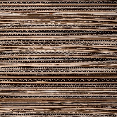 a stack of cardboard