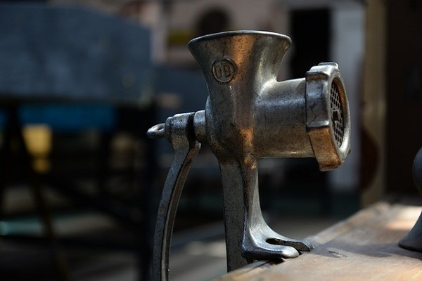 a meat grinder
